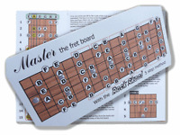 MASTER THE NOTES OF THE FRETBOARD electric guitar chart