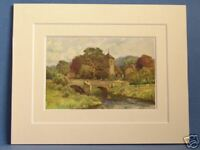 MORDIFORD HEREFORD VINTAGE DOUBLE MOUNTED HASLEHUST PRINT c1920 10X8 OVERALL
