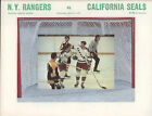 1970-71 RANGERS vs SEALS NHL Hockey Program