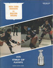 1970 Rangers vs Bruins PLAYOFF NHL Hockey Program