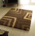 Large Shaggy Modern Brown Rug Carpet in Various Sizes
