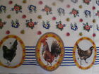 Moda - Le Petit Poulet-Chicken Cameo Border on Creme