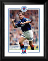 Glasgow Rangers FC 9 in a Row Ally McCoist Framed Print