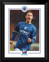 Glasgow Rangers FC 9 in a Row Mark Hateley Framed Print