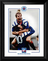 Rangers FC 9 in a Row McCoist & Hateley Framed Print