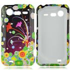 Flower Art Hard Case Phone Cover HTC Droid Incredible 2