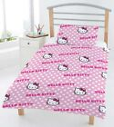 HELLO KITTY 4PC BUNDLE ROTARY JUNIOR COT BED DUVET QUILT COVER SET (FREE P+P)