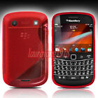 RED S-LINE TPU GEL SILICONE SKIN CASE COVER for BLACKBERRY BOLD TOUCH 9900 9930