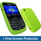 Green Silicone Skin Case for BlackBerry Curve 8520 9300 3G Gemini Cover Holder