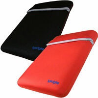 Black/Red Neoprene Case for Samsung Galaxy Tab P1000 Tablet Sleeve Cover Holder