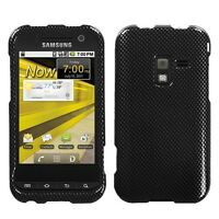 Carbon Fiber HARD Case Snap on Phone Cover for Sprint Samsung Conquer 4G D600