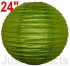 """4 Chinese Japanese Paper Lanterns/Lamps 24"""" Grass Green Just Artifacts Brand"""