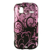 Purple Black Swirl HARD Protector Case Snap on Phone Cover T-Mobile HTC Amaze 4G