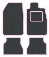 BMW Convertible 3 Series (E36) 93-00 Velour Anthracite/Pink Trim Car mat set