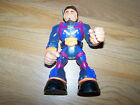 "6"" Chunky Mattel Rescue Heroes Action Figure 2002 Clear / Blue Man Toy"