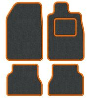 BMW Convertible 3 Series (E36) 93-00 Velour Anthracite/Orange Trim Car mat set