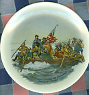 "Collector Plate Made in USA Washington Crossing the Delaware 8 11/16"" Across"