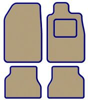 BMW Convertible 3 Series (E36) 93-00 Velour Beige/Blue Trim Car mat set