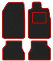 BMW Convertible 3 Series (E36) 93-00 Super Velour Black/Red Trim Car mat set