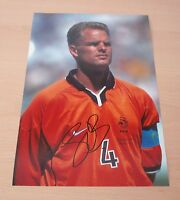 FRANK DE BOER HAND SIGNED AUTOGRAPH 12x8 SIGNATURE PHOTO HOLLAND DUTCH + PROOF
