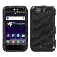 For Sprint LG Viper 4G HARD Protector Case Snap On Phone Cover Carbon Fiber