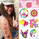 60s 70s Fancy Dress Pk of 6 CND Hippy Hippie Temporary Tattoos 1st Class Post