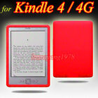 RED SILICONE SKIN CASE COVER for AMAZON KINDLE 4 4G 4TH GEN WIFI eBOOK READER