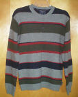 NWT mens size XS gray navy blue red olive green striped AMERICAN EAGLE sweater