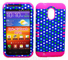 Polka Dots Blue Pink Hybrid Cover Case for Samsung Galaxy S 2 Epic Touch D710