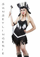 Womens Pocahontas Indian cowgirl princess fancy dress costume 8 10 12 14 16