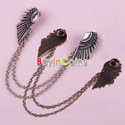 Fashion Rock Spike Stud Shirt Collar Wing Neck Tip Clip Gothic Pin Brooch 17 HK