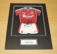 PAOLO DI CANIO HAND SIGNED 12x16 PHOTO MOUNT DISPLAY WEST HAM UNITED KIT + COA