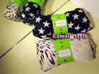 2 Fashion Scarves * NEW * Black & White Stars + Animal Print Fringe Scarf * SOFT
