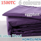HOTEL 1500TC Cotton Rich Quilt/Doona Cover Set in Eggplant/Purple Queen Size
