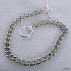 """Charm bracelet blank 7.5"""" Silver tone x 6 with flower toggle clasp Non tarnish"""