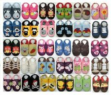 Minishoezoo slippers soft sole leather baby shoes newborn up to 6 years toddlers