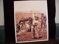 Vintage photo Cowboy fancy roping rodeo western ranch