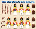 7 NEW Lego Pirate Minifigs Imperial Armada Soldiers RED w/ Epaulette & Backpacks
