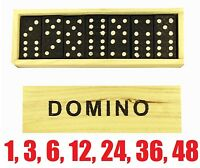 28 PCE WOODEN DOMINOES SET Domino Party Favor Favour Loot Gift Bag Kids Toys