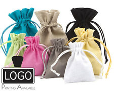 High Quality Cotton Linen Gift Pouch Gift Bags with Cotton Drawstring
