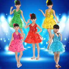 Girl Children Kids Ballet Dance Latin Ballerina Jazz Tutu Costume Party Dress