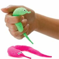 Soft Furry Twisty Worm Prank Toy - Invisible Thread Magic Trick Stocking Filler