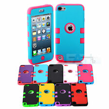Multicolor Hybrid High Impact Case Cover For iPod Touch 5th Generation + Film