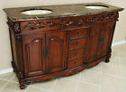 5' 3 Drawer Chest Bathroom Vanity Double Sink Cabinet