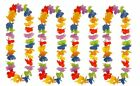 6, 12, 24 LEI HAWAIIAN FLOWER GARLAND NECKLACE HEN/STAG NIGHT FANCY DRESS 100CM