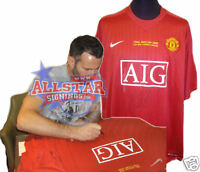 RYAN GIGGS SIGNED MANCHESTER UNITED 2008 CHAMPIONS LEAGUE FINAL SHIRT SEE PROOF