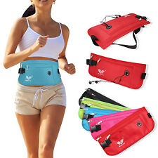 New Travel Pouch Hidden Passport ID Holder Compact Security Money Waist Belt Bag