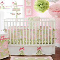 My Baby Sam 5 Piece Crib Bedding Set Pixi Baby Pink Includes Mobile NEW