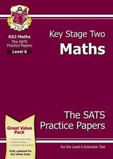 KS2 Maths SATs Practice Papers - Level 6 by CGP Books (Paperback, 2013)