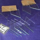 (10 pack) Clear 2 x 4 inch Diamond Clear Glass Bevels Beveled on front Flat Back
